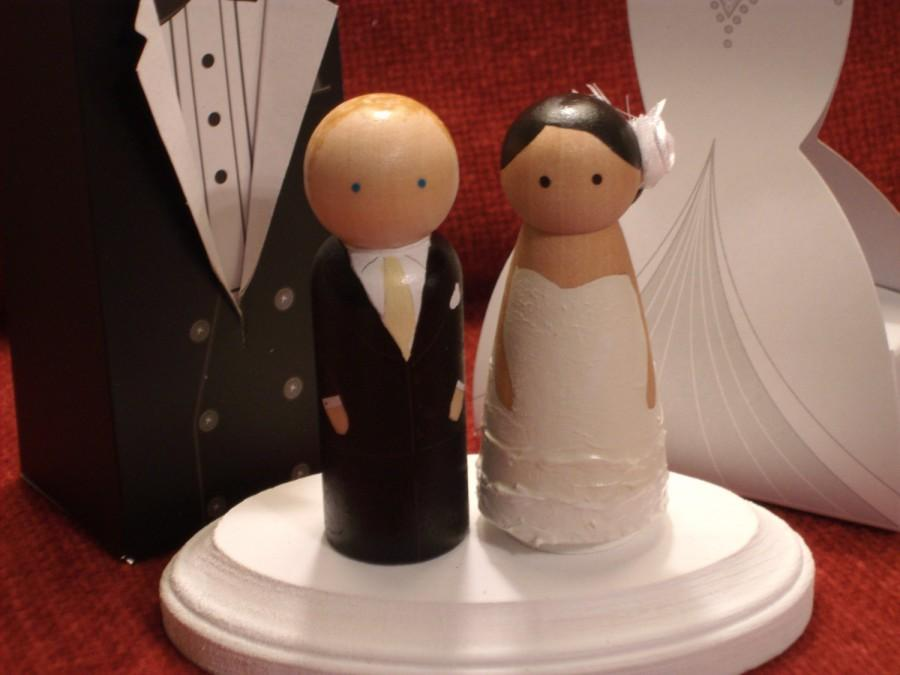 Mariage - Ships in Two Weeks Custom Wood Doll Topper with Special Pricing