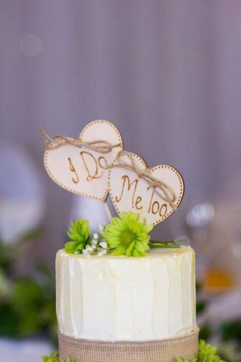 Rustic Heart Cake Toppers I Do Me Too Wedding Topper