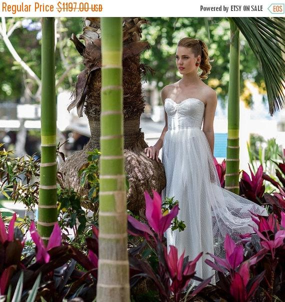 Cyber Monday Sale Elegant Sweetheart Tulle Wedding Dress, Lace ...