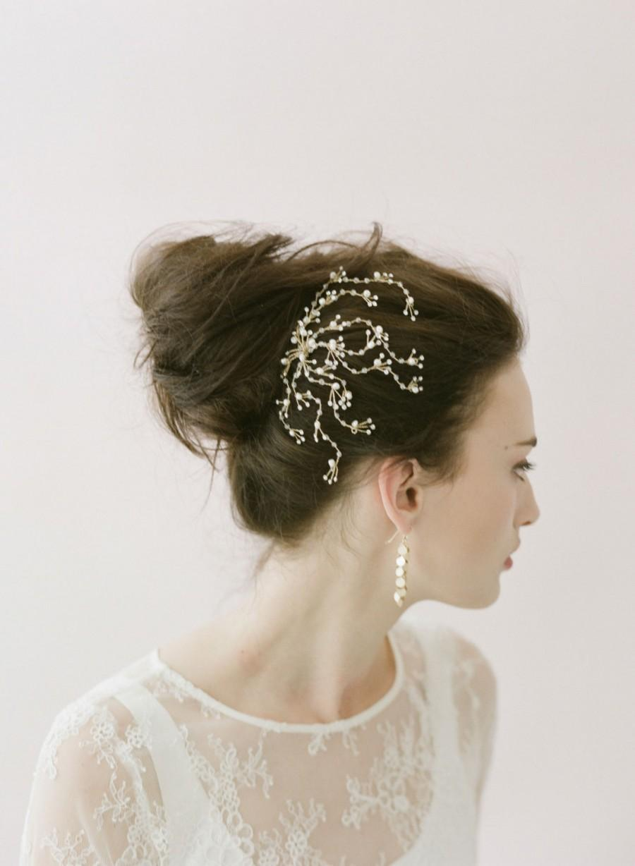 زفاف - Bridal crystal hair comb - Dainty crystal spray comb - Style 402 - Made to Order