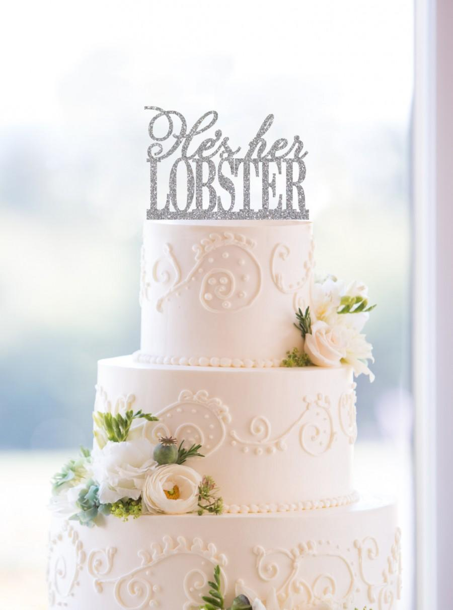 He S Her Lobster Cake Topper