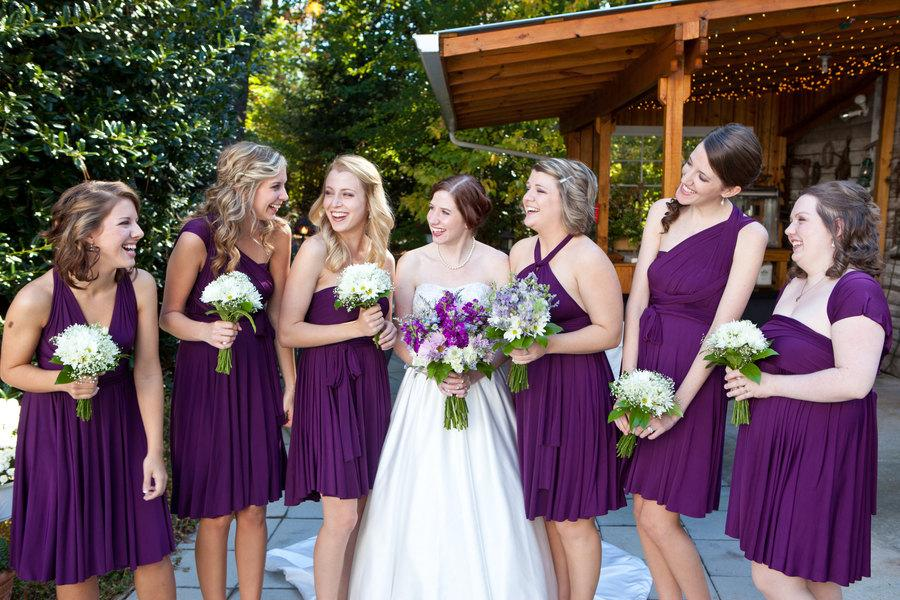 Plum Purple Infinity Wrap Bridesmaid Dress
