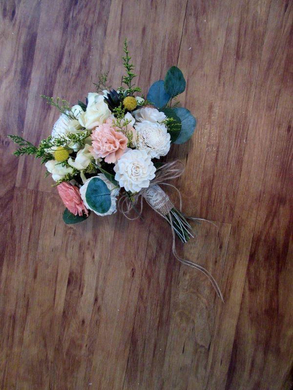 Свадьба - Wedding Bouquet, Sola wood Succulent Bouquet, Woodland Dried Bouquet, Bridal Bouquet, Sola flowers, Alternative Bouquet, Rustic Handmade