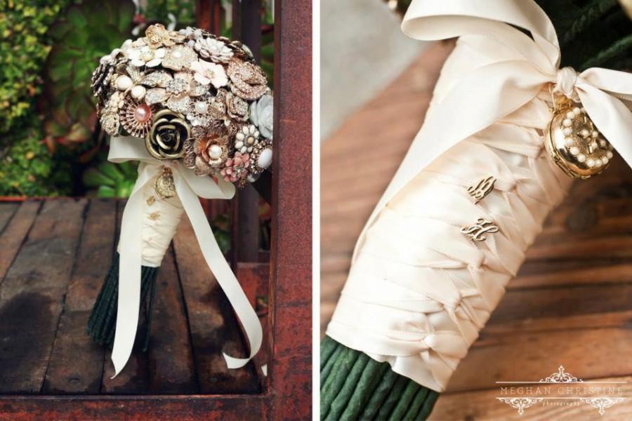 Mariage - Custom Jewelry Brooch Bouquet - Deposit
