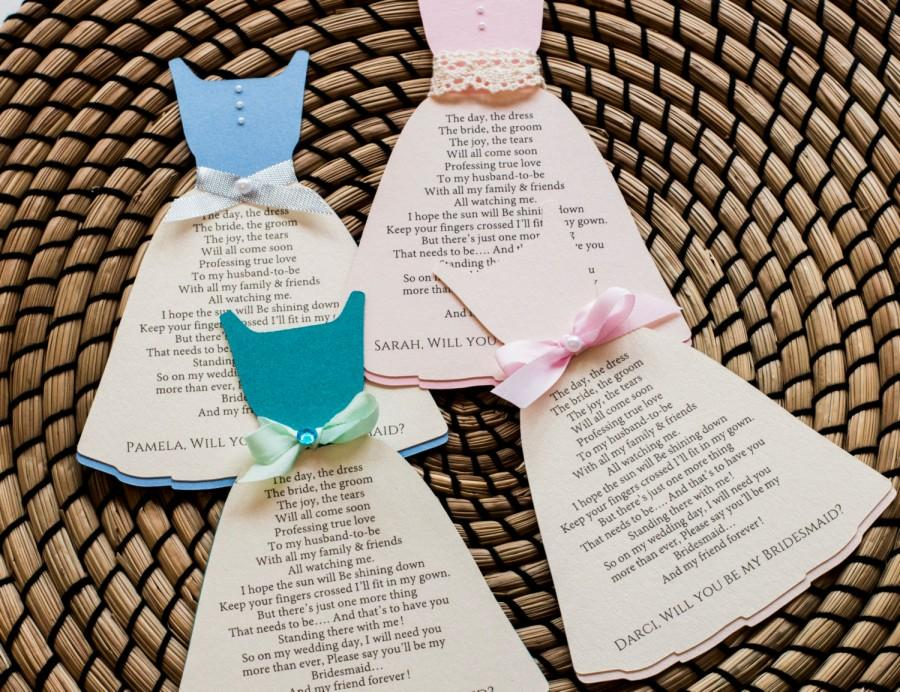 Wedding - Will you be my Bridesmaid Proposal/ Bridesmaid Invitation/ Asking Bridesmaid/  Bridal Party/ Matron of Honor/Gown Invitation (BR4)