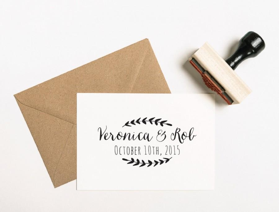 b15cfe19c8 Save The Date Stamp, Custom Wedding Stamp, Wedding Monogram Stamp ...