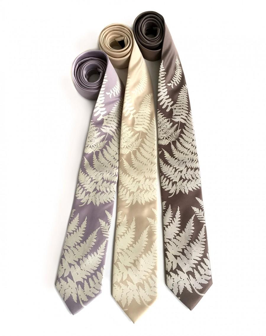 زفاف - Custom color wedding neckties. 3 groomsmen ties, wedding discount. Matching vegan safe microfiber ties, same screenprinted design.