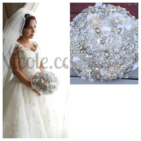 Crystal Brooch Bouquet Similar To Snooki Nicole Lavalle S 2420791
