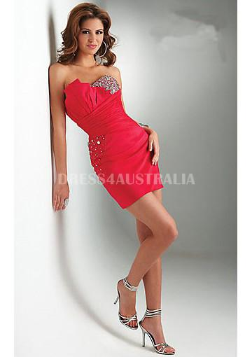 Buy Australia A Line Strapless Sequins Taffeta Short Homecoming