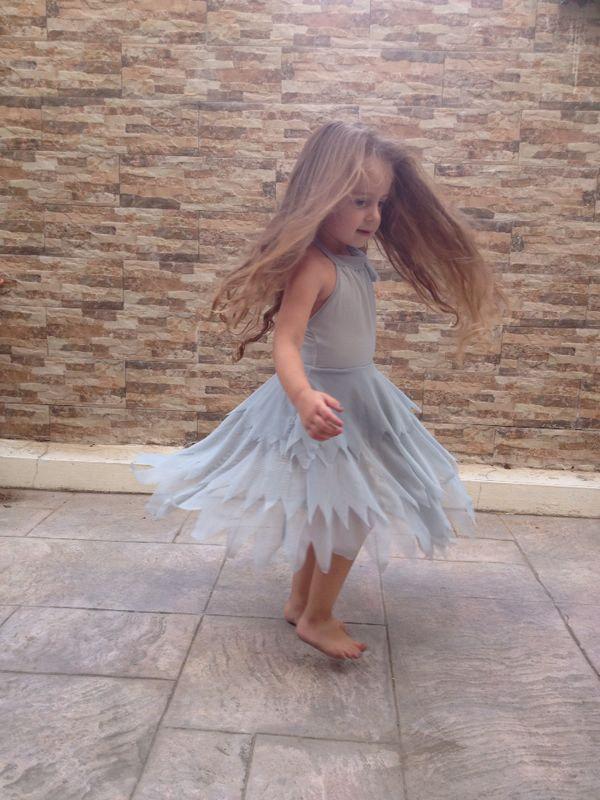 Wedding - Flower girl- green flower Tinkerbell fairy dress