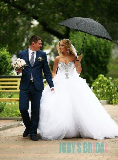 Wedding - Beautiful sweetheart neck princess tulle ball gown wedding dress