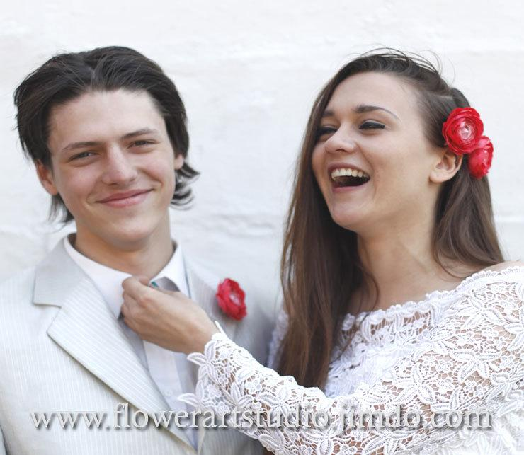 Свадьба - Coral Bridal Hair Flowers, Bridal Hair Accessories, Peach Wedding Hair Clip,  Bridal Headpiece, Flower for sash, Salmon silk flower.