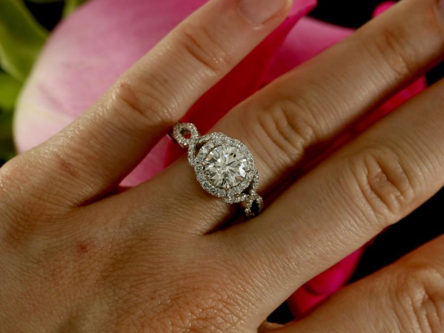 7 0mm moissanite engagement ring with diamonds forever