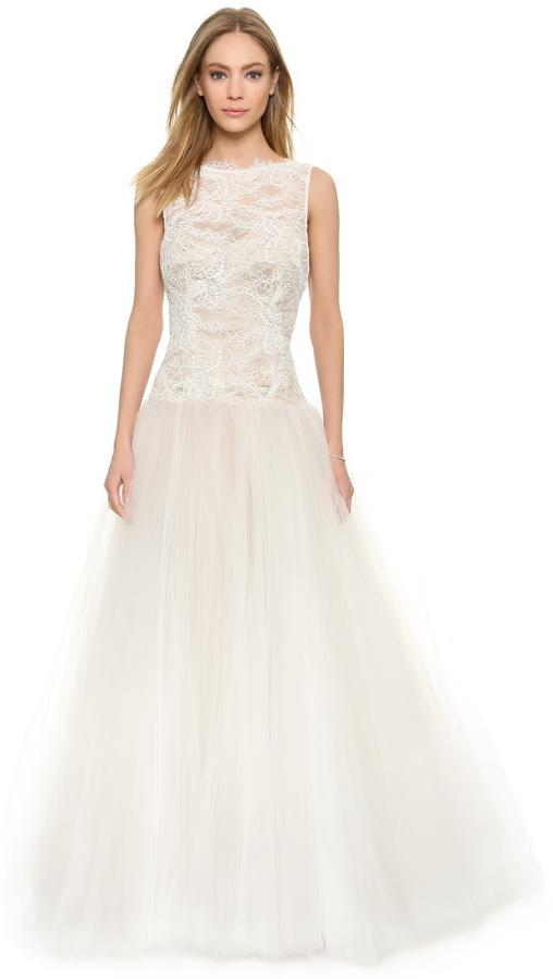 زفاف - Theia Tulle & Lace Gown