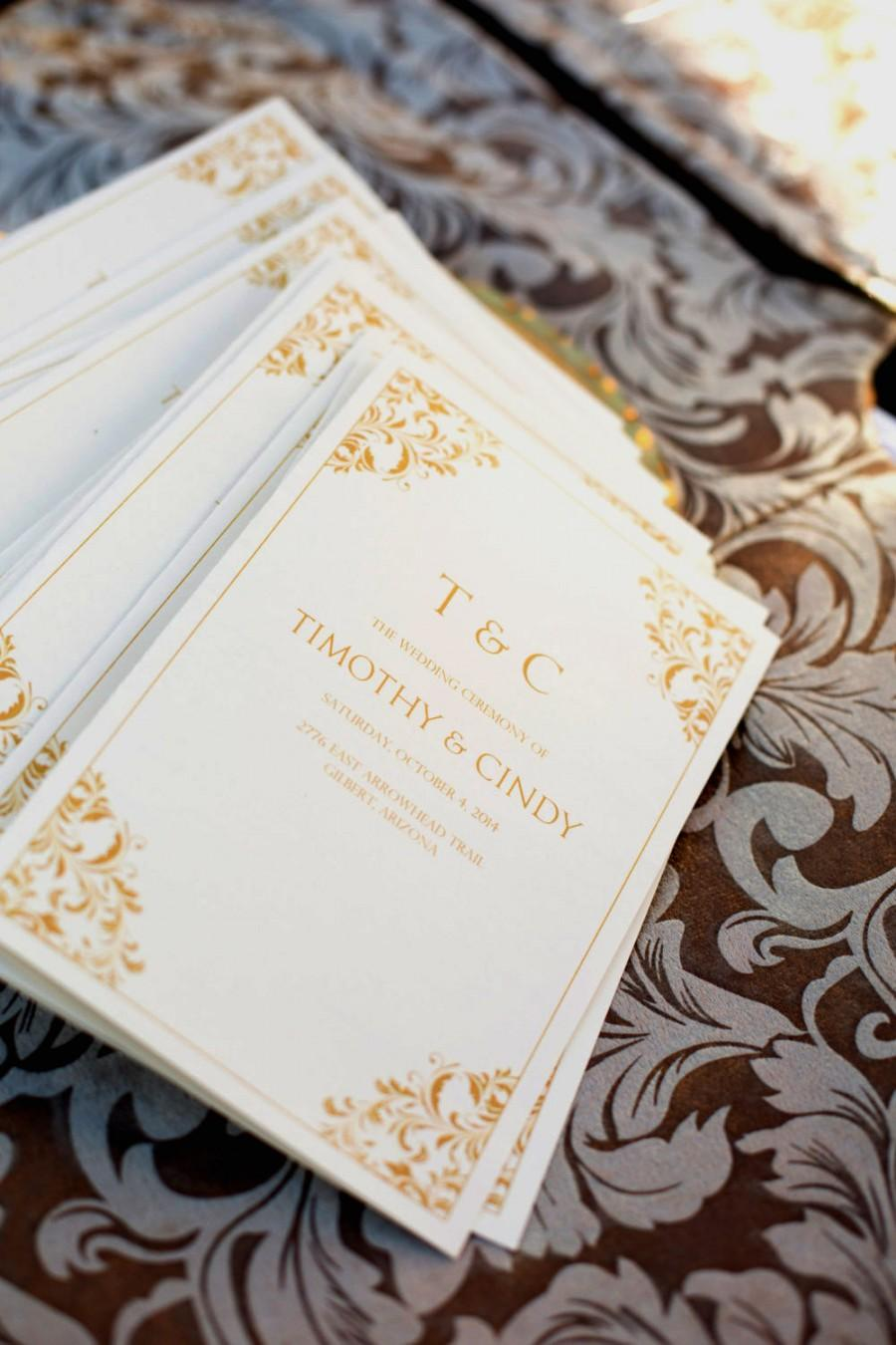 Wedding Program Template Instant Download EDITABLE TEXT