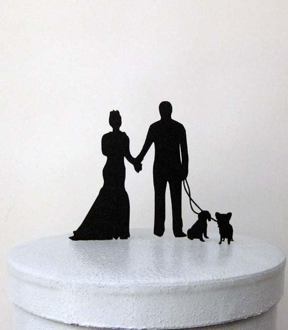 Wedding - Custom Wedding Cake Topper, Wedding Cake Topper - Celebrate with your pets