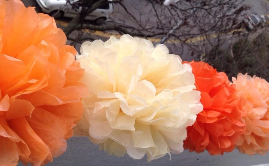 6 Gift Tissue Paper Pom Pom Bridal Shower Decor Tissue Pom Pom Paper