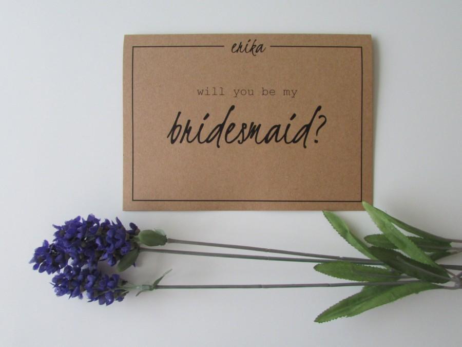 زفاف - Will You Be My Bridesmaid Card