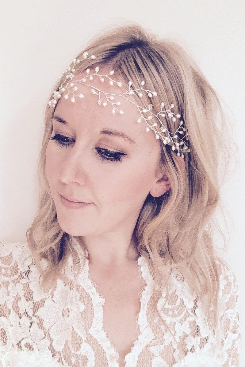 how to wear bridal hair vine
