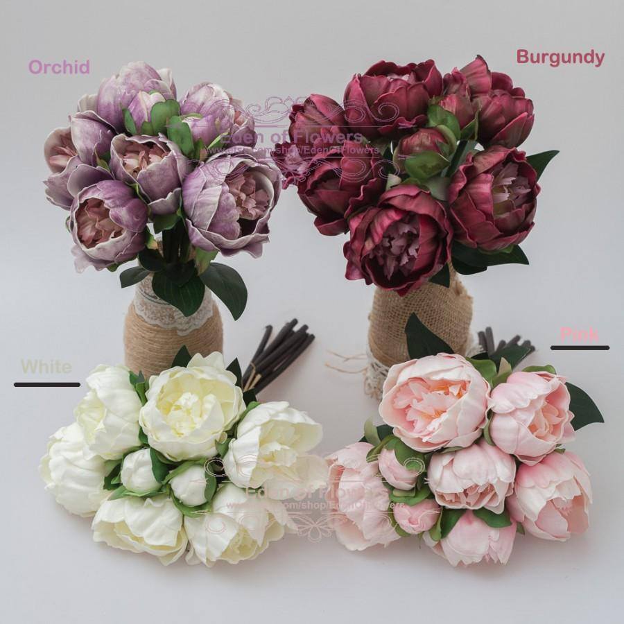 Five Pack Pink Peony Bouquet For Wedding Bridal Bouquets Home