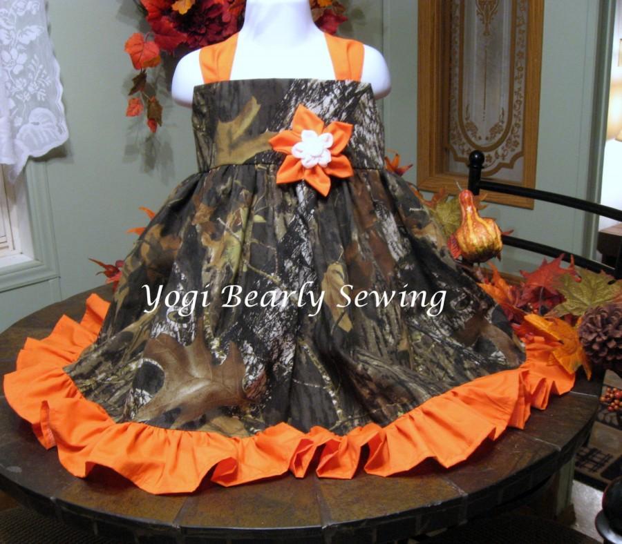 Mariage - Girls Camo Dress, Girls Camo Wedding Dress.  Flower Girl Camo dress.