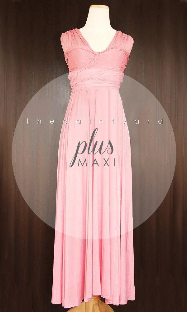 3a410f5c346 MAXI Plus Size Blush Bridesmaid Dress Convertible Dress Infinity Dress  Multiway Dress Wrap Dress Wedding Dress Twist Dress Prom Dress