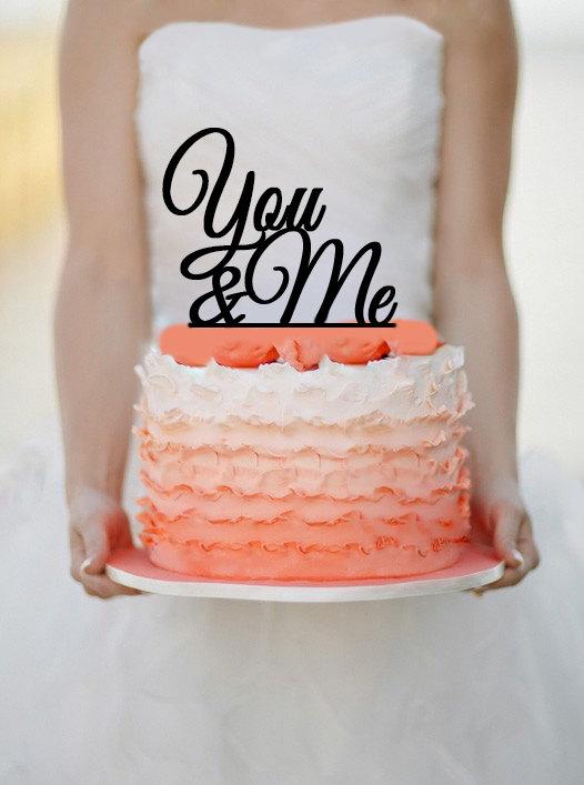 Mariage - You & Me Wedding Cake topper  Monogram cake topper Personalized Cake topper Acrylic Cake Topper