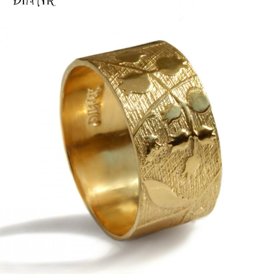 It is just a graphic of 42k Yellow Gold Wedding Band, Women Wide Wedding Ring, Pomegranate