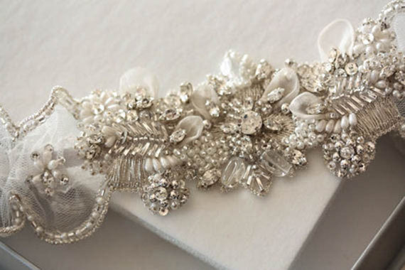 Wedding - Heirloom Wedding Garter Set   - Isla Pearls (Made to Order)