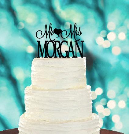 Свадьба - Mr&Mrs Custom Cake Topper