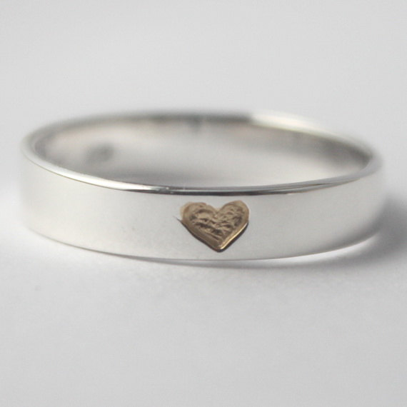 VALENTINES DAY SPECIAL Hidden Heart 925 Sterling Silver Ring With