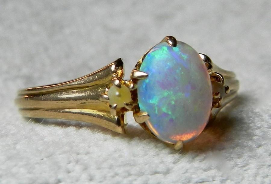 Australian Opal Engagement Rings