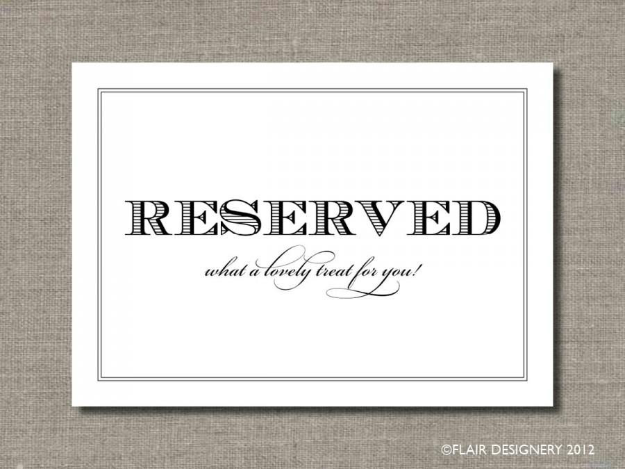 Mariage - SET OF TWO - Reserved - 5 x 7 Wedding Poster or Table Sign by Abigail Christine Design