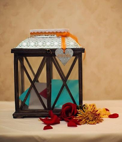 Hochzeit - Rustic Lantern Card Holder (Card Box)