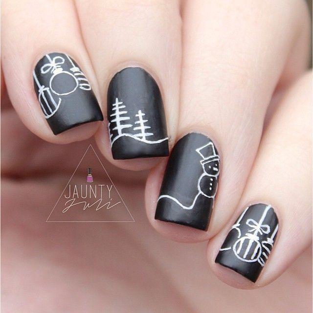 Cute Christmas Nail Art: 30 Most Cute Christmas Nail Art Designs #2421901