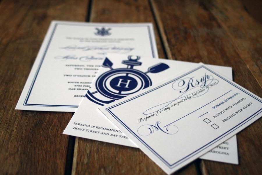 Modern Vintage Nautical Wedding Invitations,Anchor Wedding ...