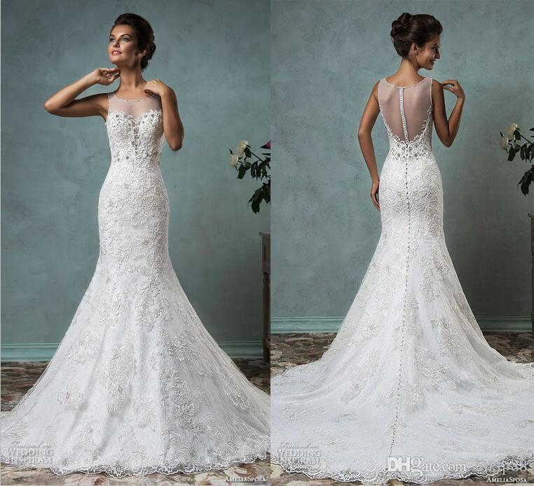 Beach Wedding Dress 2016 New Arrival Amelia Sposa Mermaid Lace ...