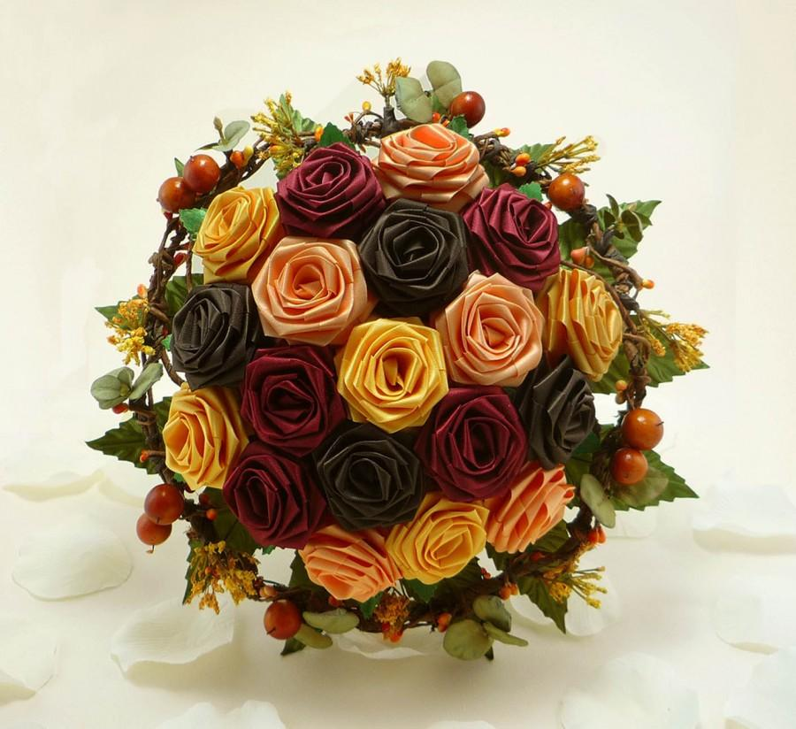 Wedding - Autumn Harvest Wedding Bouquet, Origami Bridal Bouquet, Fall Wedding, Autumn Wedding Bouquet, Rustic Wedding, Wedding Bouquet