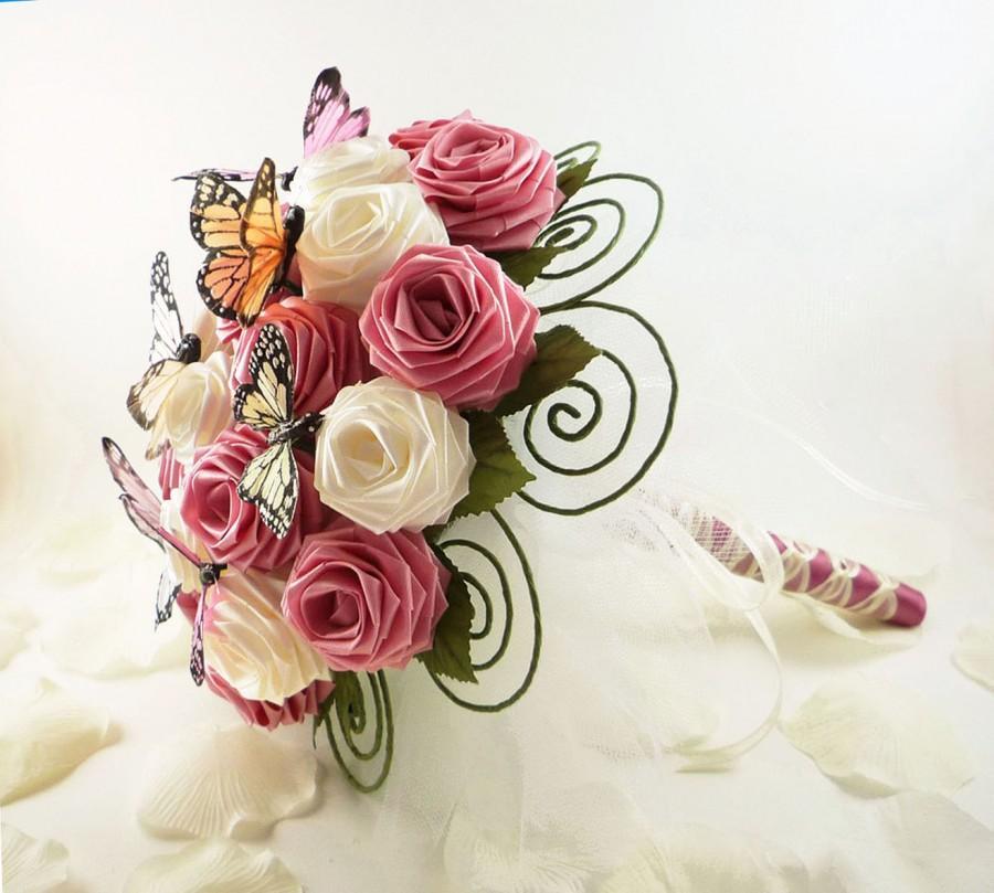 Как сделать букет цветов из лент своими руками