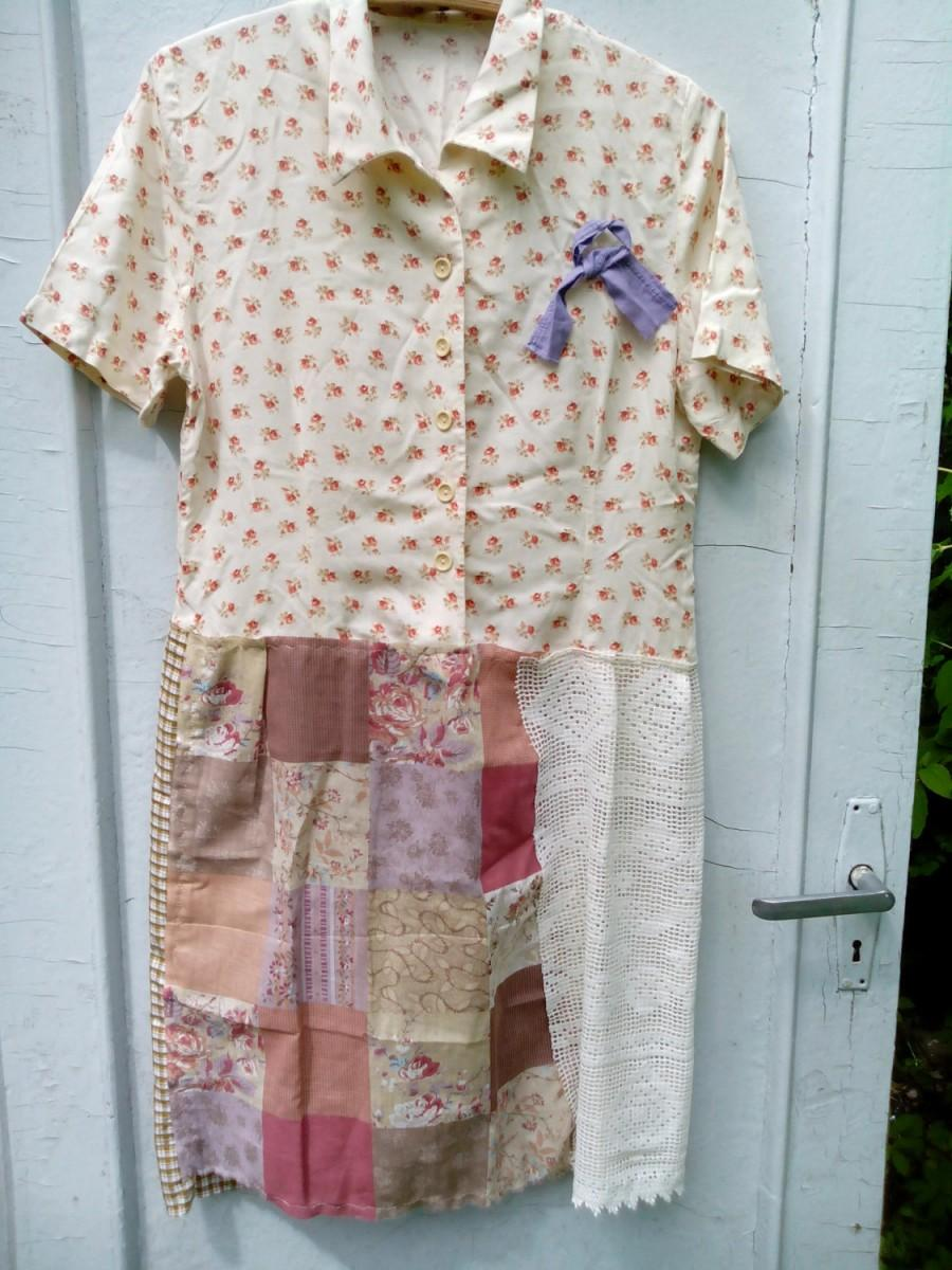 Sale 20 off art tattered dress fanky rustic tunic made of for Clothing materials for sale