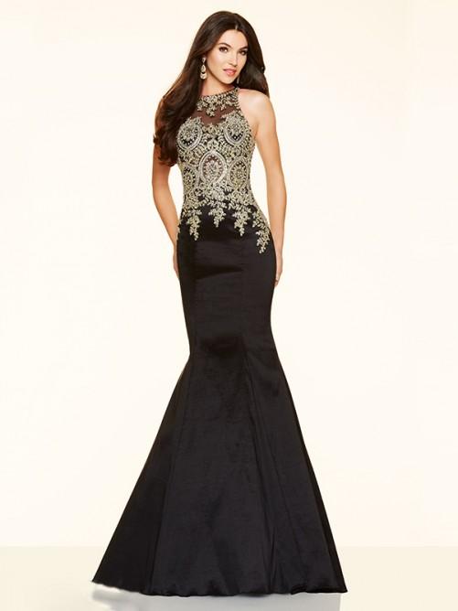 Wedding - Trumpet/Mermaid Scoop Taffeta Floor-Length Prom Dress with Beading
