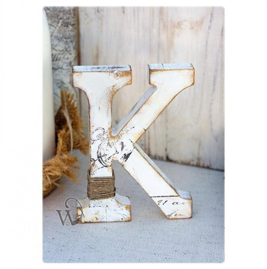 Rustic Wedding Letter Stand Alone Letter Decorative Nursery