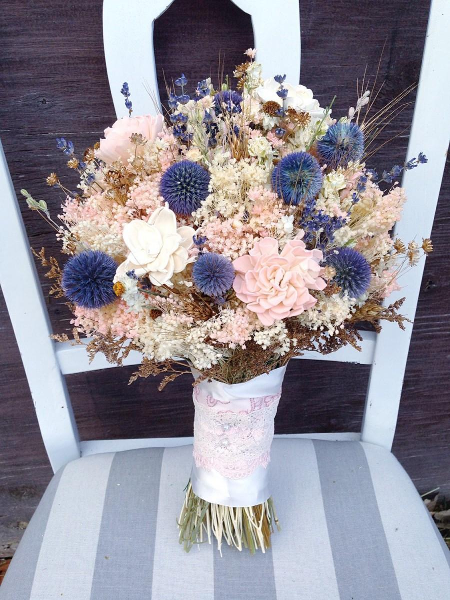 Dried Flower Bouquet - Sola Flower - Sola Flower Bouquet - Dried ...