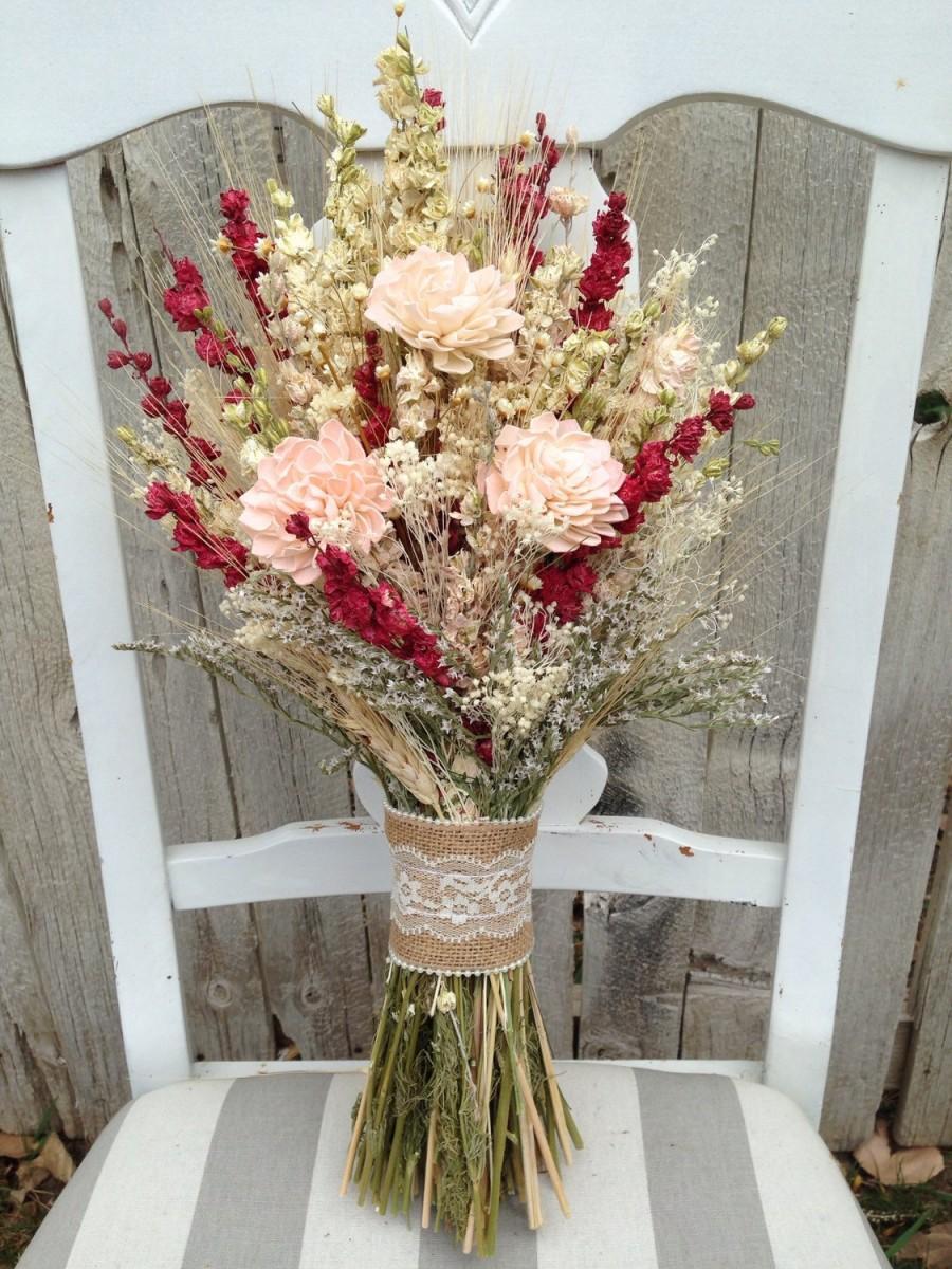 Blush bridal bouquet dried flower bouquet wheat sola flower blush bridal bouquet dried flower bouquet wheat sola flower bouquet izmirmasajfo