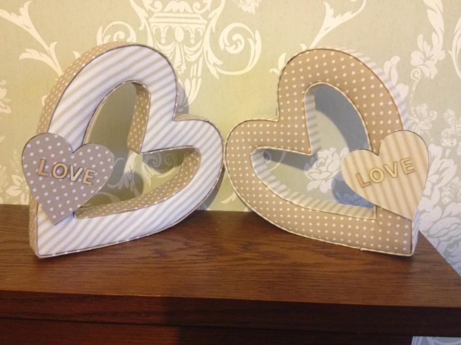 Wedding Decor Decorations Keepsake Gifts Fabric Hearts Christening Anniversary Home Decor
