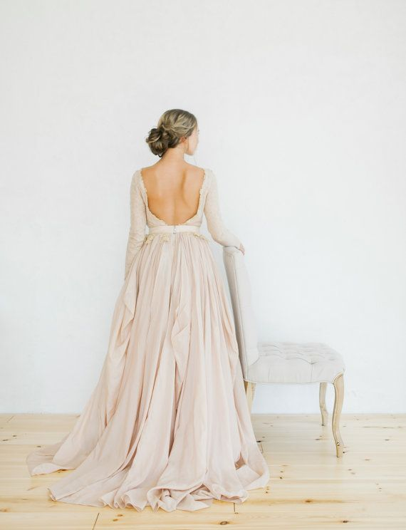 Свадьба - Romantic Silk Batiste And Lace Lining Wedding Dress