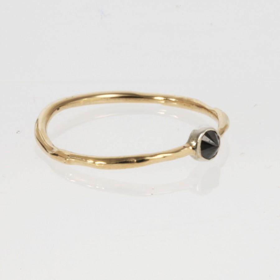 Wedding - Black Diamond Spike Ring