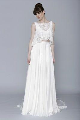 Hochzeit - Crop Top Wedding Dresses For The Nontraditional Bride