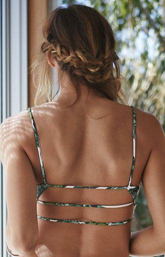 Wedding - LA Hearts Ladder Back Floral Bralette Bikini Top At PacSun.com