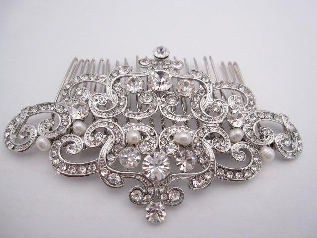 Свадьба - Bridal hair comb bridal comb pearl hair comb bridal hair accessories bridal headpiece bridal hairpiece bridal hair jewelry bridal accessory
